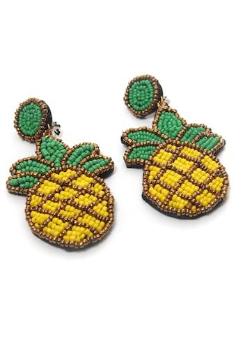 COLLEZIONE ALESSANDRO Paar Ohrclips »Ananas, O2606A - F84«, mit Glasperlen kaufen