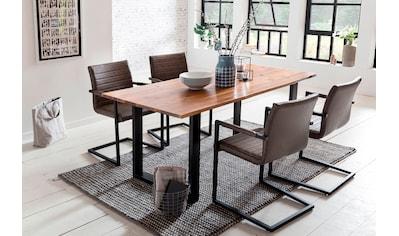 SalesFever Essgruppe, (Set, 5 tlg.), bestehend aus 4 Armlehnstühlen und einem 180 cm... kaufen