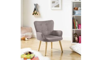 Lüttenhütt Sessel »Levent Mini«, mit Metallbeinen im Eichen-Look, in verschiedenen... kaufen