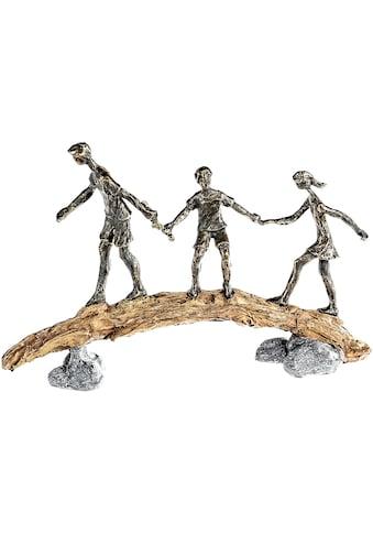 Casablanca by Gilde Dekofigur »Skulptur Balance, bronzefarben/grau«, Dekoobjekt, Höhe... kaufen