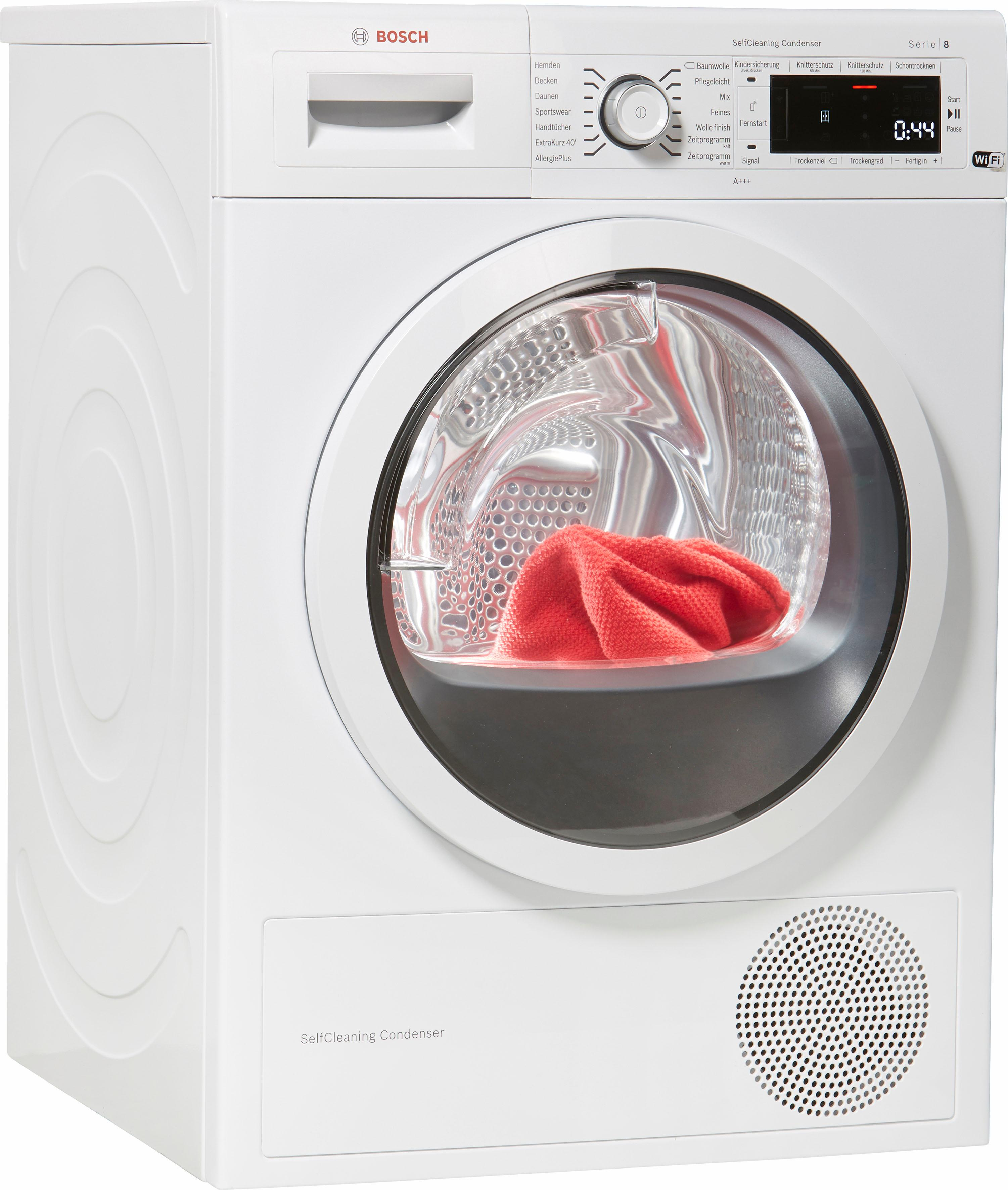 BOSCH Wärmepumpentrockner WTWH7540 8 kg | Bad > Waschmaschinen und Trockner | Weiß | Bosch