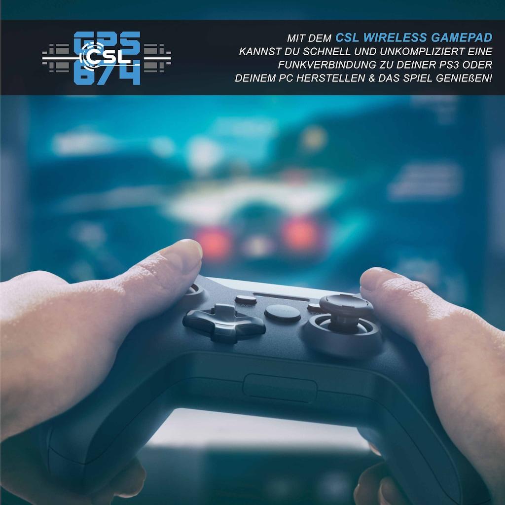 CSL Wireless Gamepad für PC & PS3 im Xbox-Design