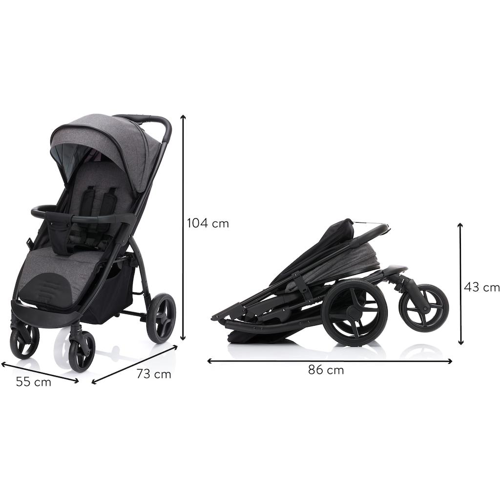 Fillikid Kinder-Buggy »Driver, dunkelgrau melange«, Kinderwagen, Sportwagen