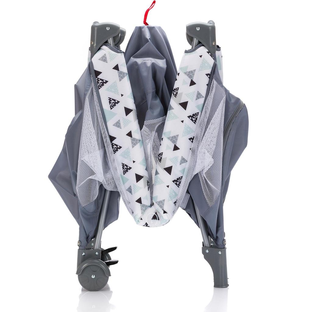 Fillikid Baby-Reisebett »Standard grau/ Triangel«, inkl. Transporttasche