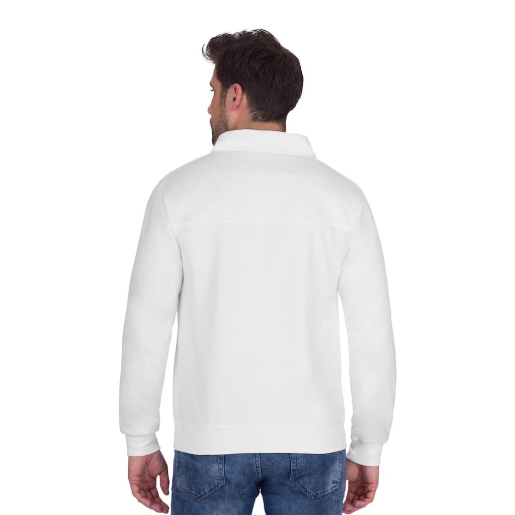 Trigema Sweatshirt mit Reißverschluss