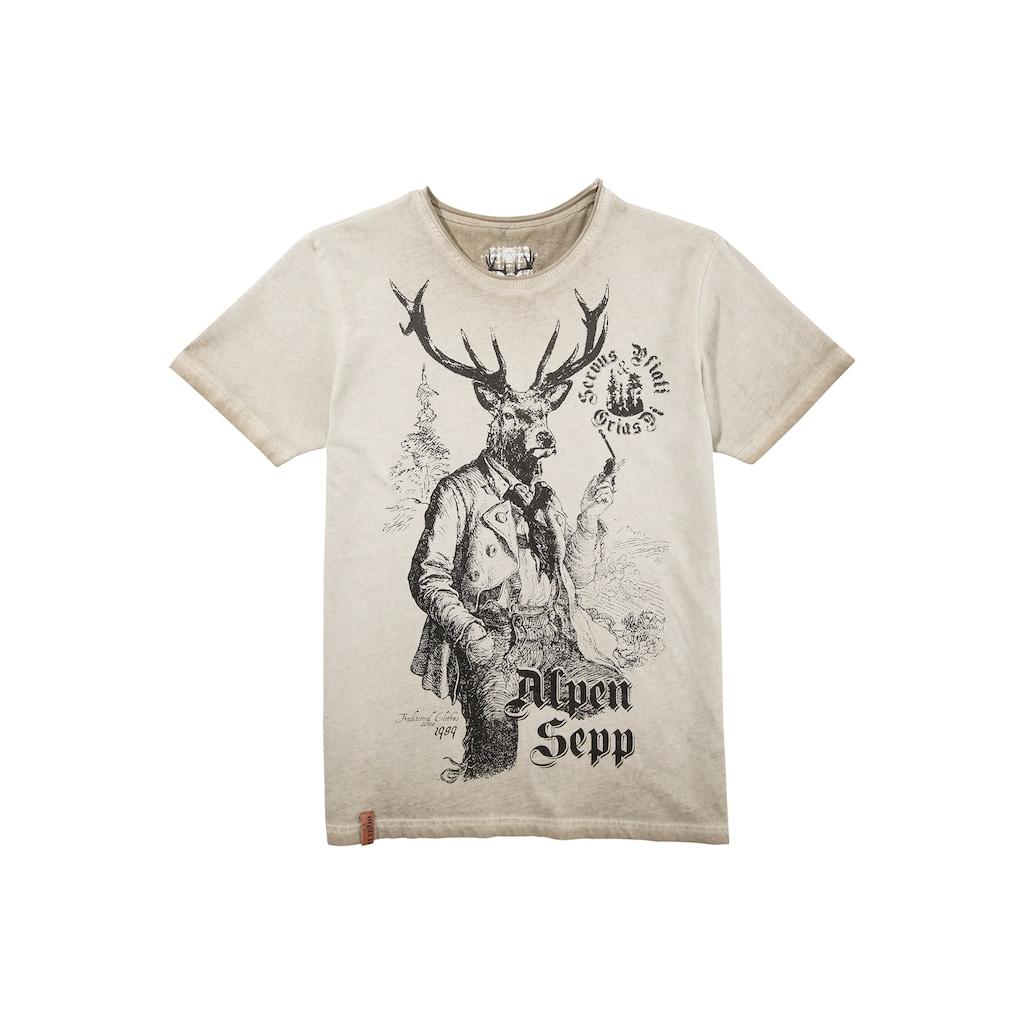 MarJo Trachtenshirt, mit Print