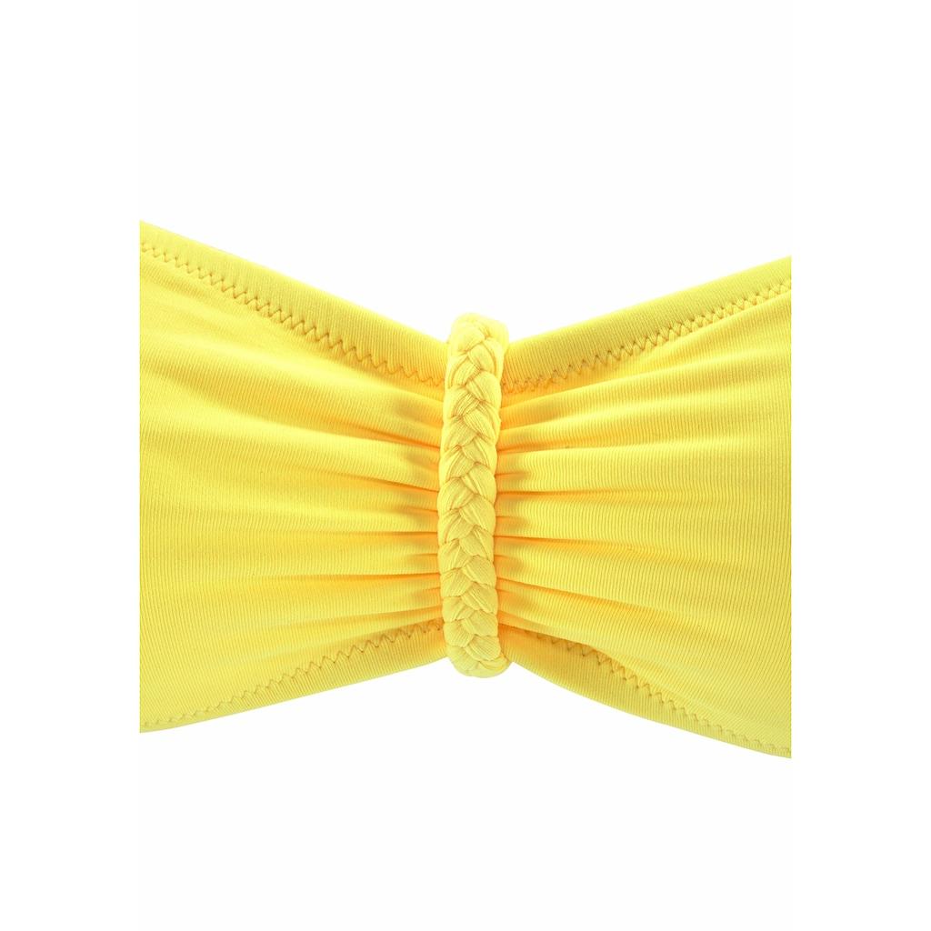 Buffalo Bandeau-Bikini-Top »Happy«, mit geflochtenem Detail