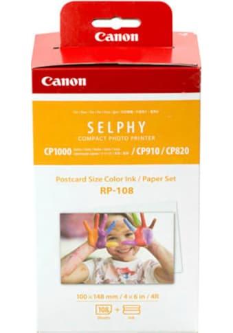 Canon Tintenpatrone »RP-108 Ink/Paper Set Postkartenformat«, (Set) kaufen