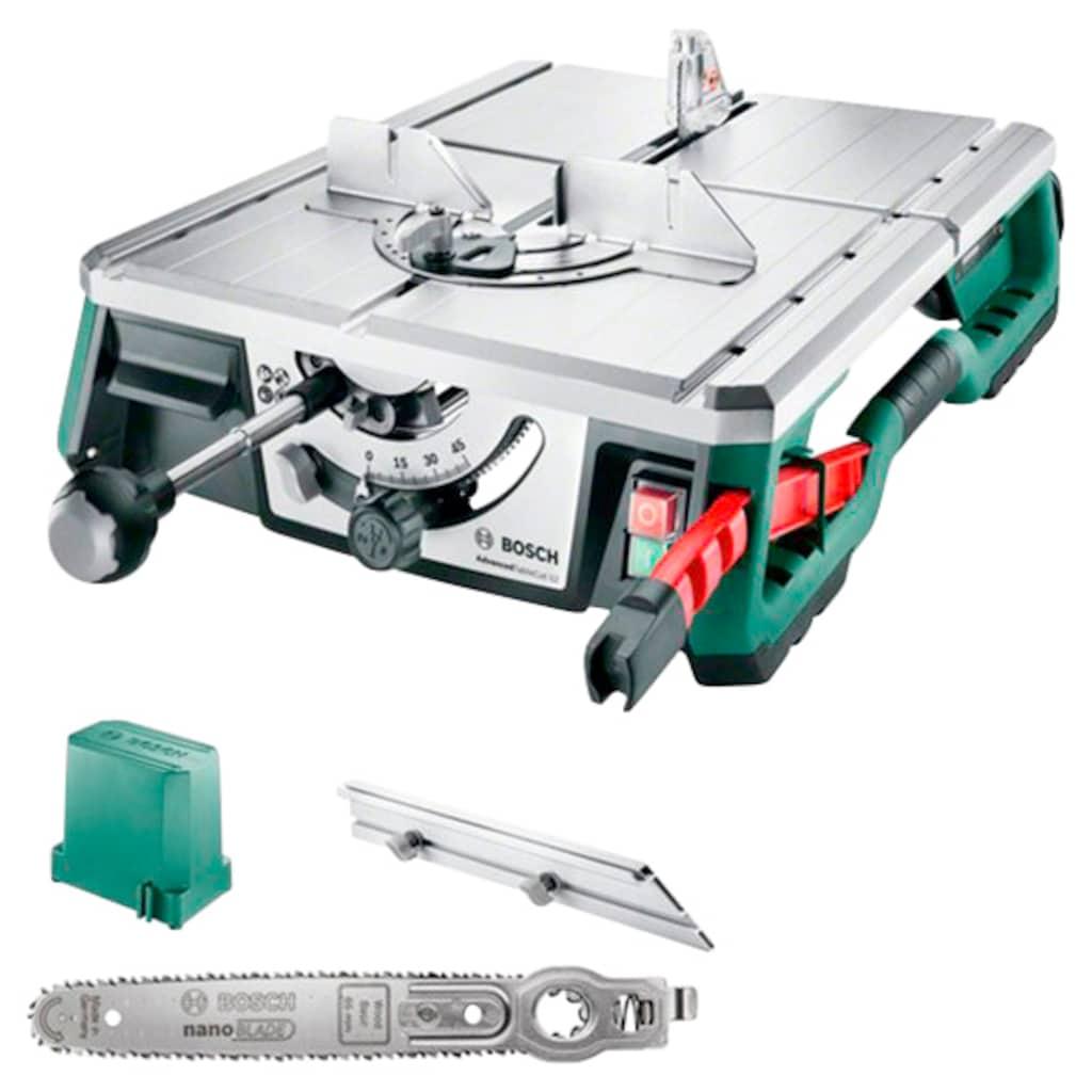 BOSCH Tischkettensäge »AdvancedTableCut 52«, Tischsäge, Schnitttiefe 52 mm, NanoBlade-Sägeblatt