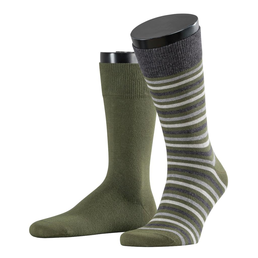 Esprit Socken »Multistripe 2-Pack«, (2 Paar), mit feinen Streifenmuster