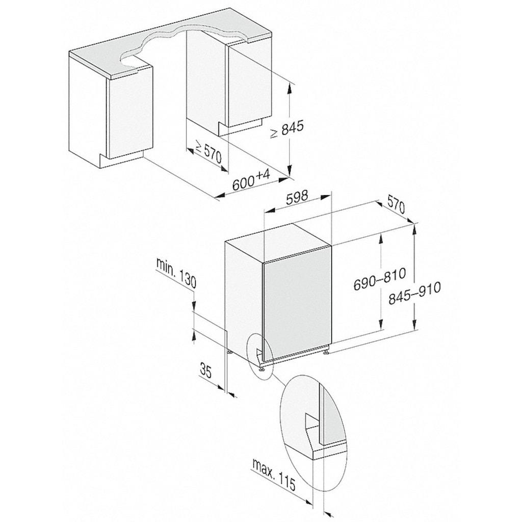 Miele vollintegrierbarer Geschirrspüler, G 7055 SCVi XXL, 8,9 l, 14 Maßgedecke
