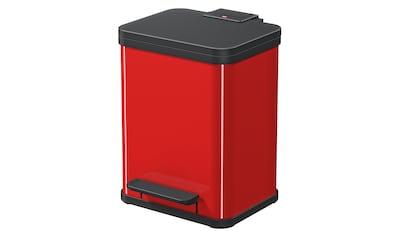 Hailo Mülleimer »Öko Duo Plus M«, rot, Fassungsvermögen ca. 2x 9 Liter kaufen