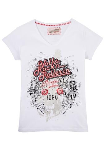 Andreas Gabalier Kollektion Trachtenshirt Damen mit Glitzersteinchen kaufen