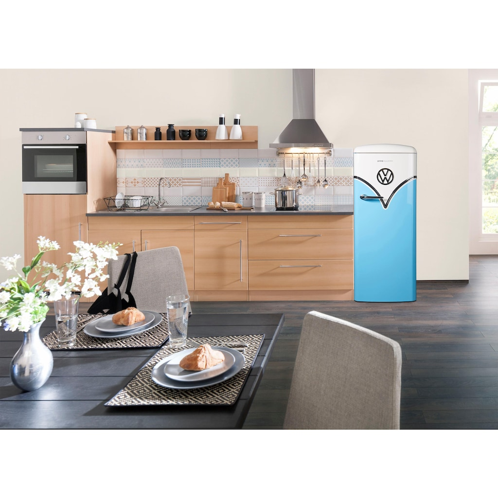 GORENJE Kühlschrank »OBRB153«, VW Bulli, OBRB153BL, 154 cm hoch, 60 cm breit