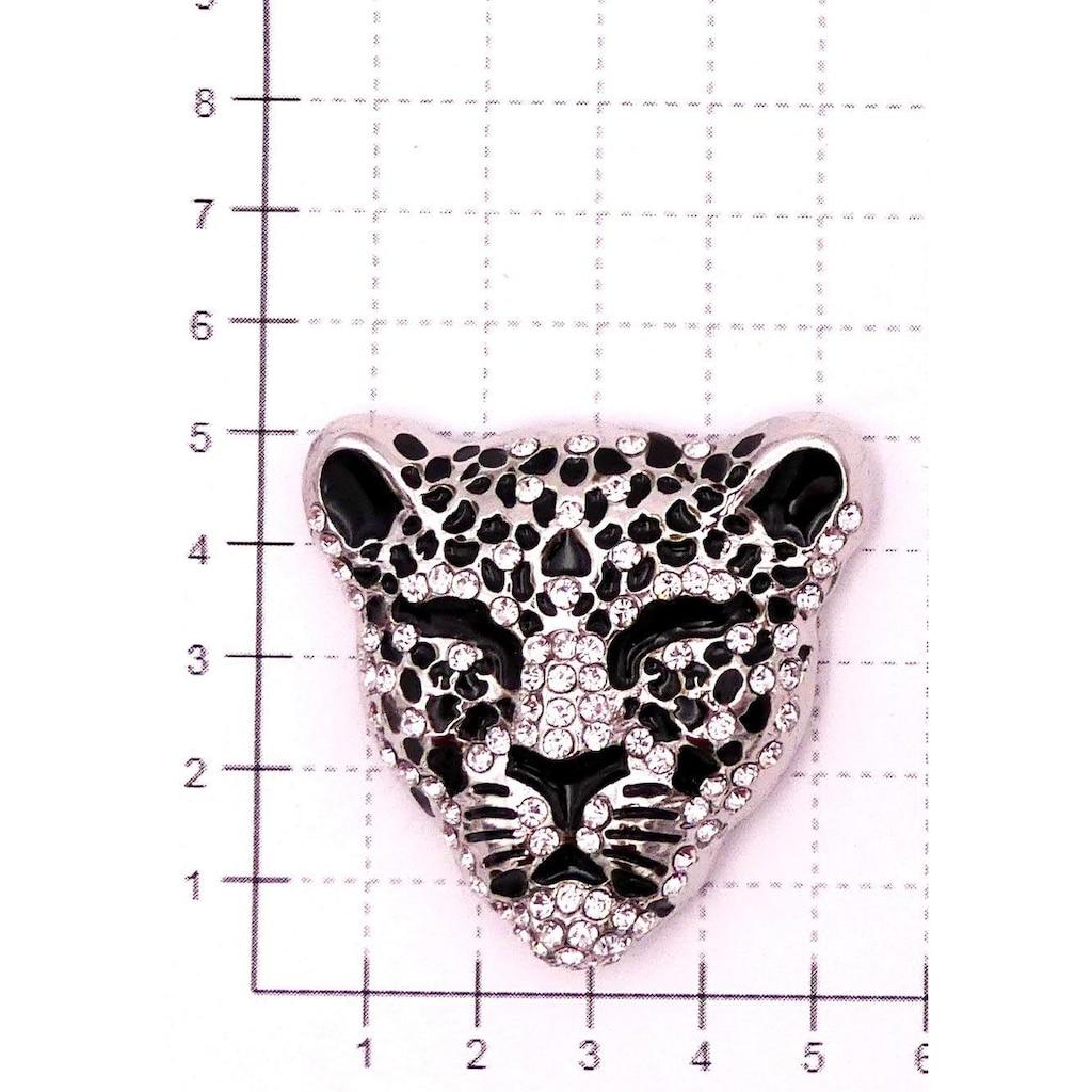 J.Jayz Brosche »Leopard«, mit Strasssteinen