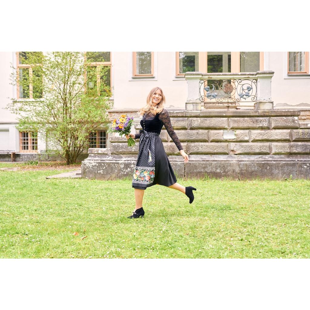 Love Nature Dirndl, (2 tlg.), Damen, midi mit edlem Samtmieder und Metallknöpfen - Made in Austria