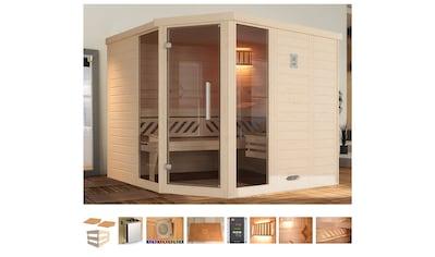 weka Sauna »Brevik 2«, 7,5 kW Bio-Kombiofen mit ext. Strg., Fenster kaufen