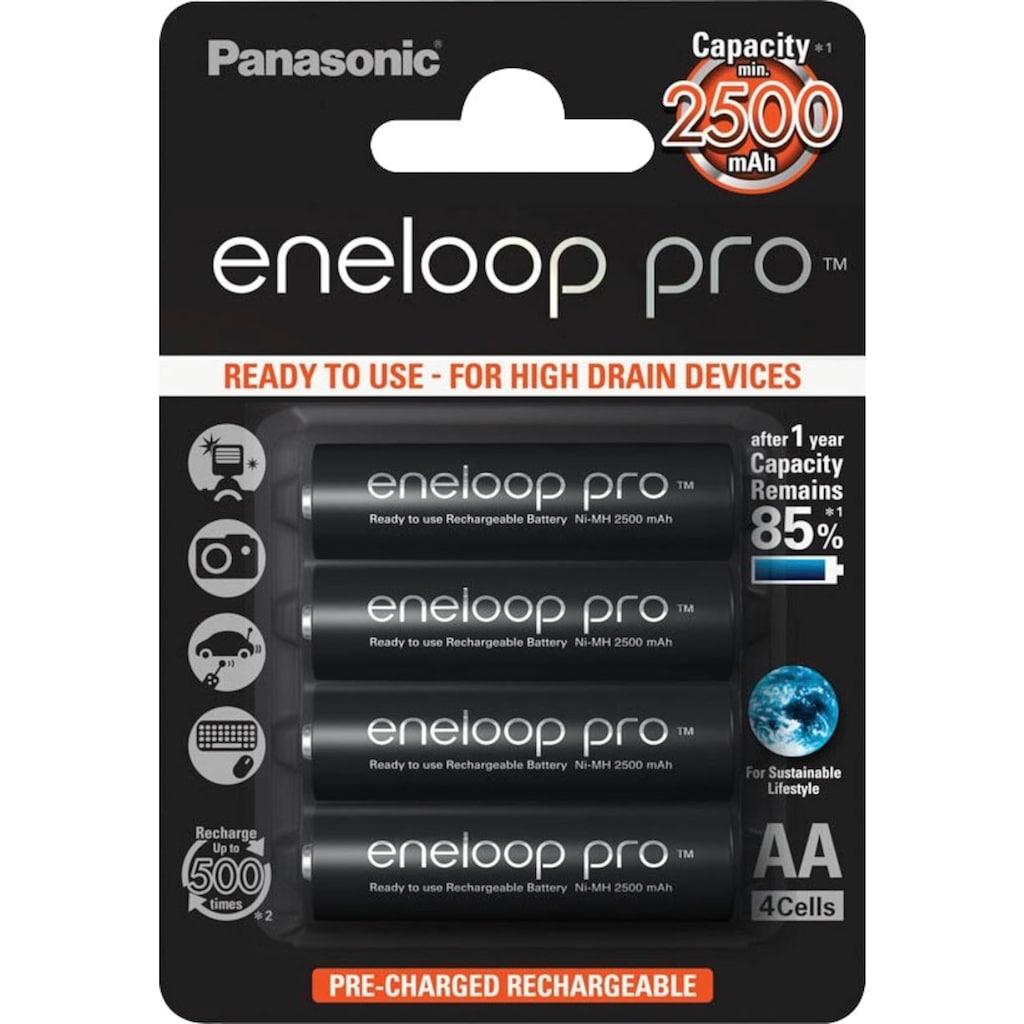 Panasonic wiederaufladbare Batterien »eneloop pro Akkus BK3HCDE4BE«, (4 St.)