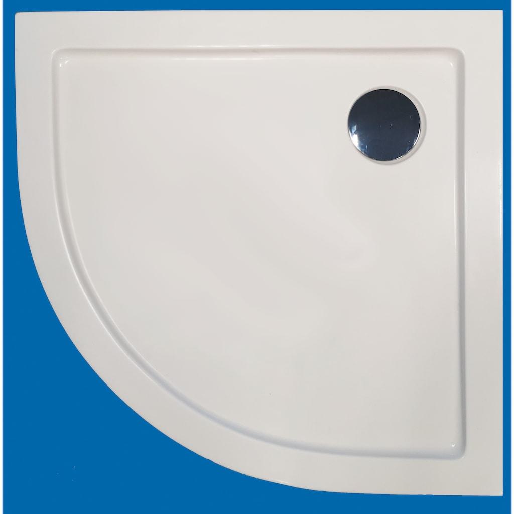 Sanotechnik Rundduschwanne, B x T: 80 x 80 cm