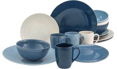 Home affaire Kombiservice »Miltery«, (Set, 16 tlg.), in maritimen Farben kaufen