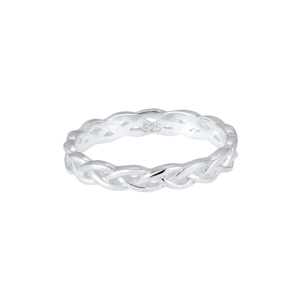Elli Fingerring »Gedreht Geflochten Zopfmuster 925 Silber«