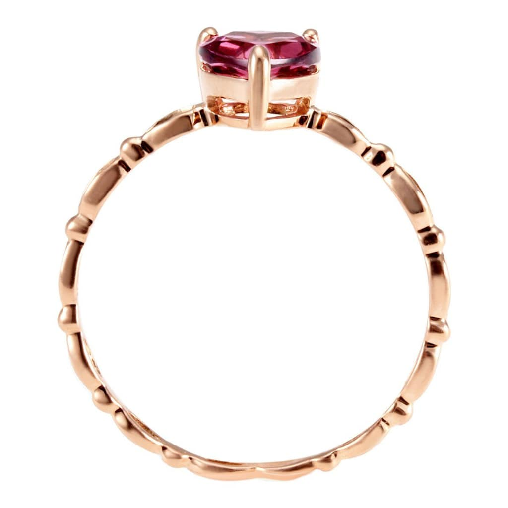 goldmaid Damenring Herz 585/- Rotgold 1 rot-brauner Rhodolith