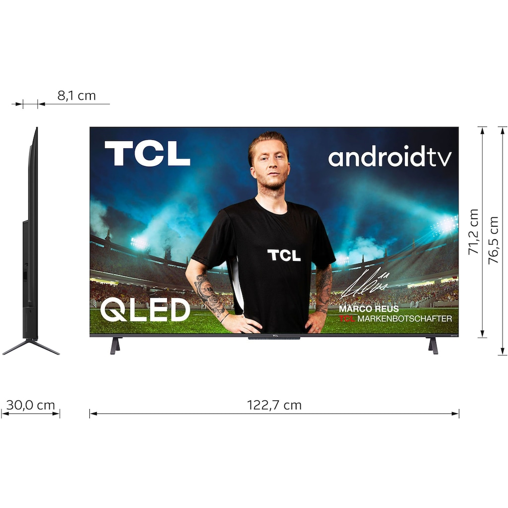 """TCL QLED-Fernseher »55C722X1«, 139 cm/55 """", 4K Ultra HD, Smart-TV-Android TV, Android 11, Onkyo-Soundsystem"""