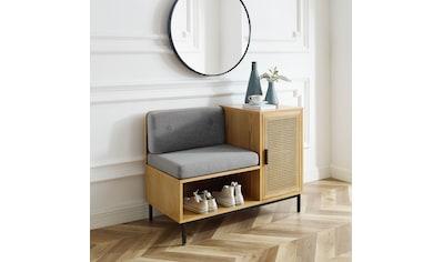 Leonique Sitzbank »Naemi«, Garderobenbank mit Wiener Geflecht und gepolstertem Sitz... kaufen