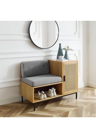 Leonique Sitzbank »Naemi«, Garderobenbank mit Wiener Geflecht und gepolstertem Sitz -und Rücken kaufen