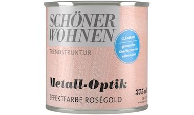SCHÖNER WOHNEN FARBE Spezialfarbe »Metall - Optik Effektfarbe roségold«, glänzend 0,375 l kaufen