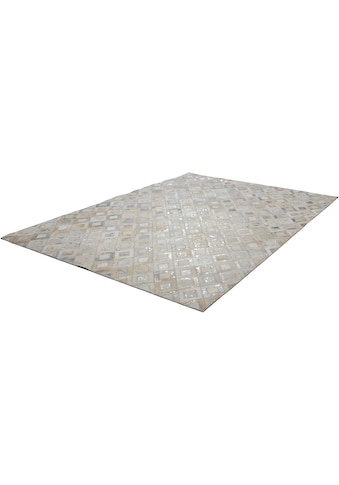 Kayoom Lederteppich »Spark 110«, rechteckig, 8 mm Höhe, Patchwork-echtes Leder-Fell,... kaufen