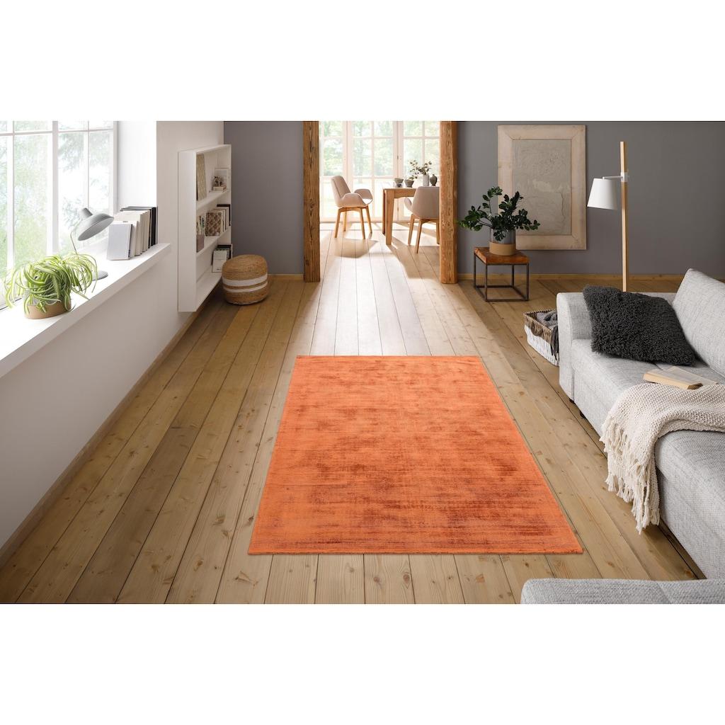 My HOME Teppich »Shirley«, rechteckig, 12 mm Höhe, Seiden-Optik, Wohnzimmer