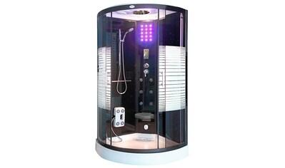 Komplettdusche »Dampfdusche Black Pearl«, BxTxH: 90x90x220 cm, mit LED Beleuchtung und Radio kaufen