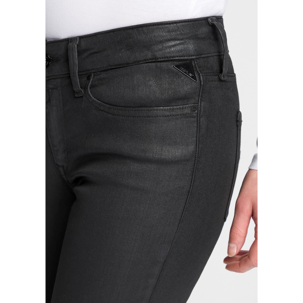 Replay Skinny-fit-Jeans »New Luz«, coated Look mit leichtem Glanz