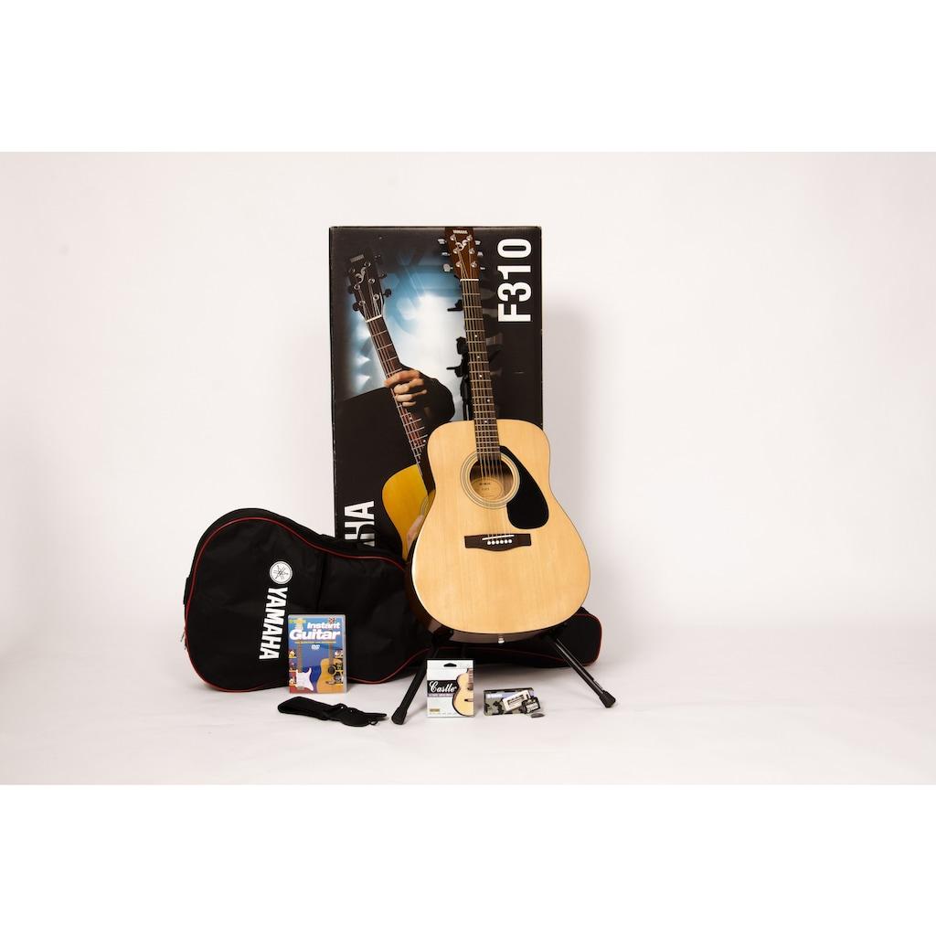 Yamaha Westerngitarre »Dreadnought Westerngitarrenset mit Gitarrenständer«, 4/4