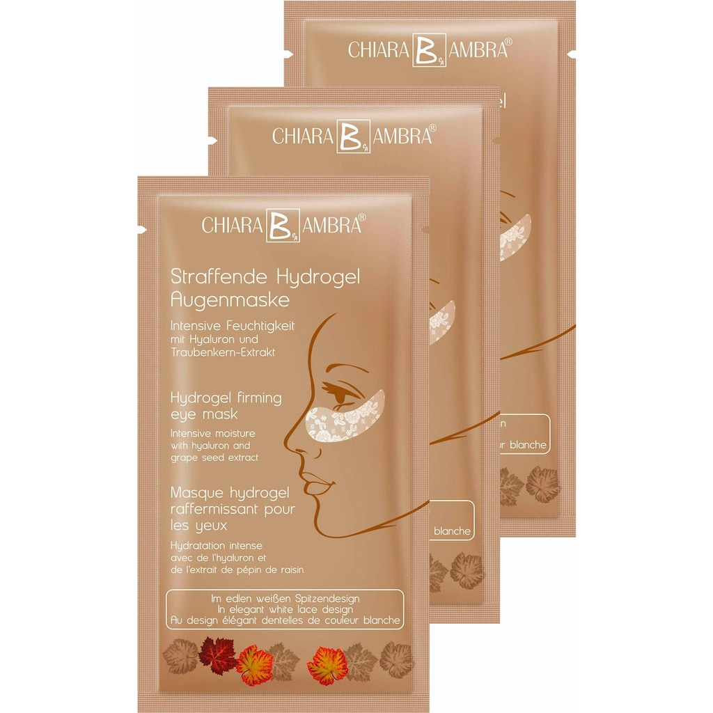 CHIARA AMBRA Augenmaske »Straffende Hydrogel Augenmaske«, (3 tlg.)