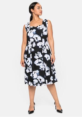 Sheego Cocktailkleid, mit Blumendruck, aus Chiffon kaufen