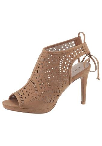 Bruno Banani High-Heel-Sandalette, mit modischem Lochmuster kaufen