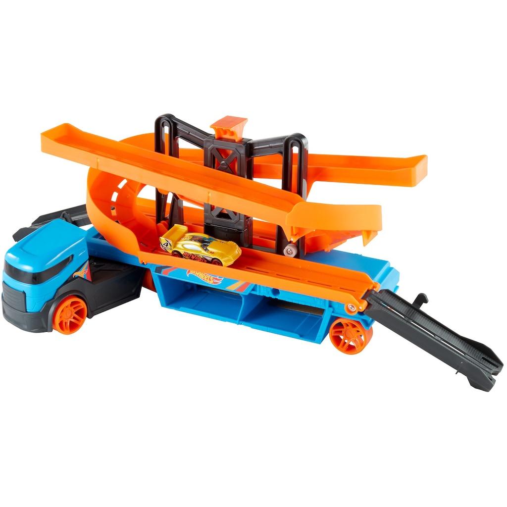 Hot Wheels Spielzeug-Transporter »Mega Action Transporter«, inkl. 1 Spielauto