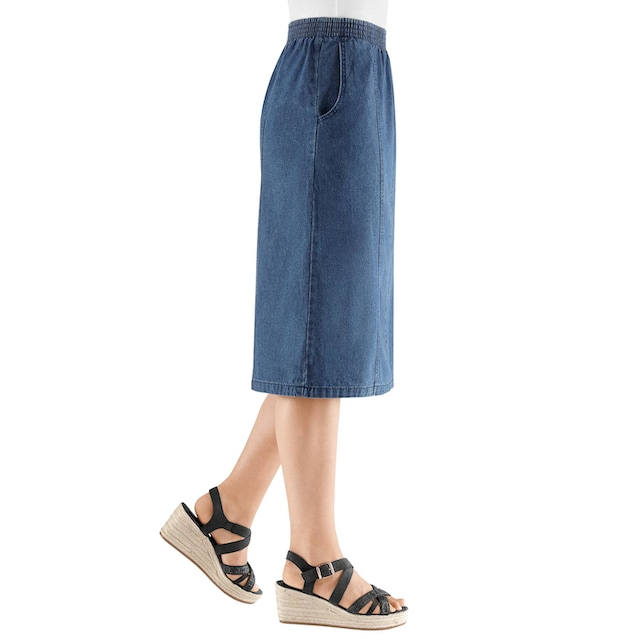 Classic Basics Jeans-Rock aus reiner Baumwolle