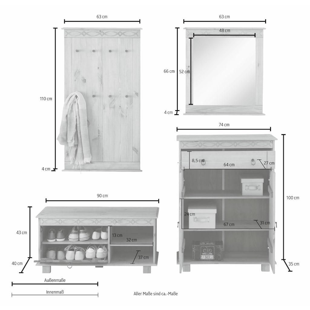 Home affaire Garderoben-Set »Indra«, (Set, 4 St.)