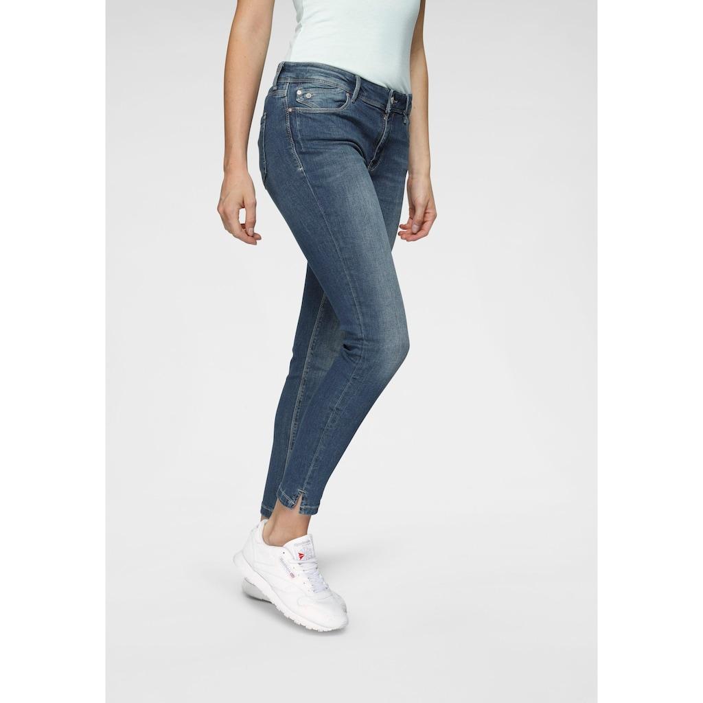 Mavi Skinny-fit-Jeans »ADRIANA ANKLE«, in Crash- und Crinkle-Optik