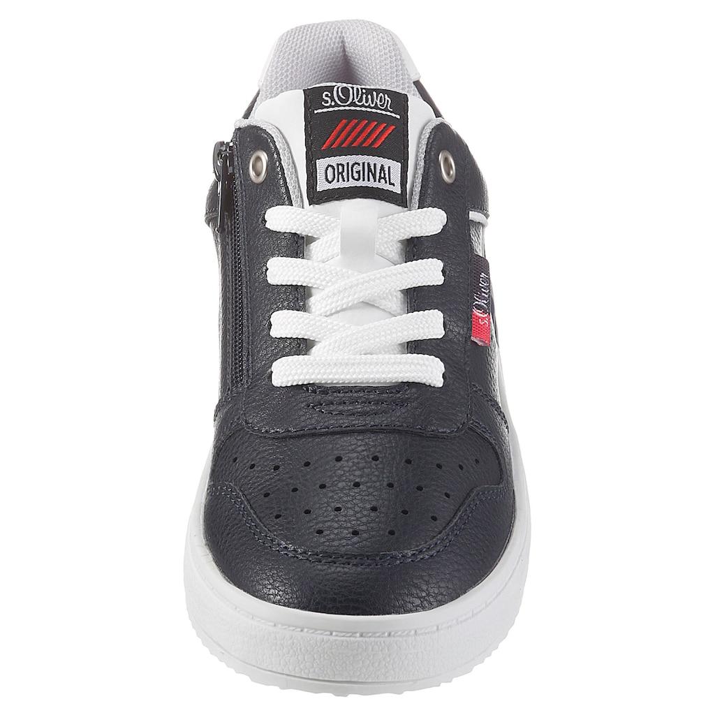 s.Oliver Sneaker, mit Logo-Aufnäher