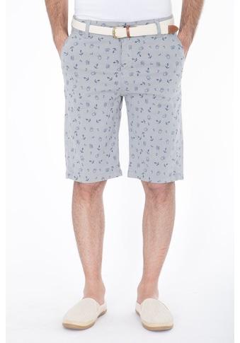 Daniel Daaf Shorts, mit allover Anker-Print inkl. Flechtgürtel kaufen