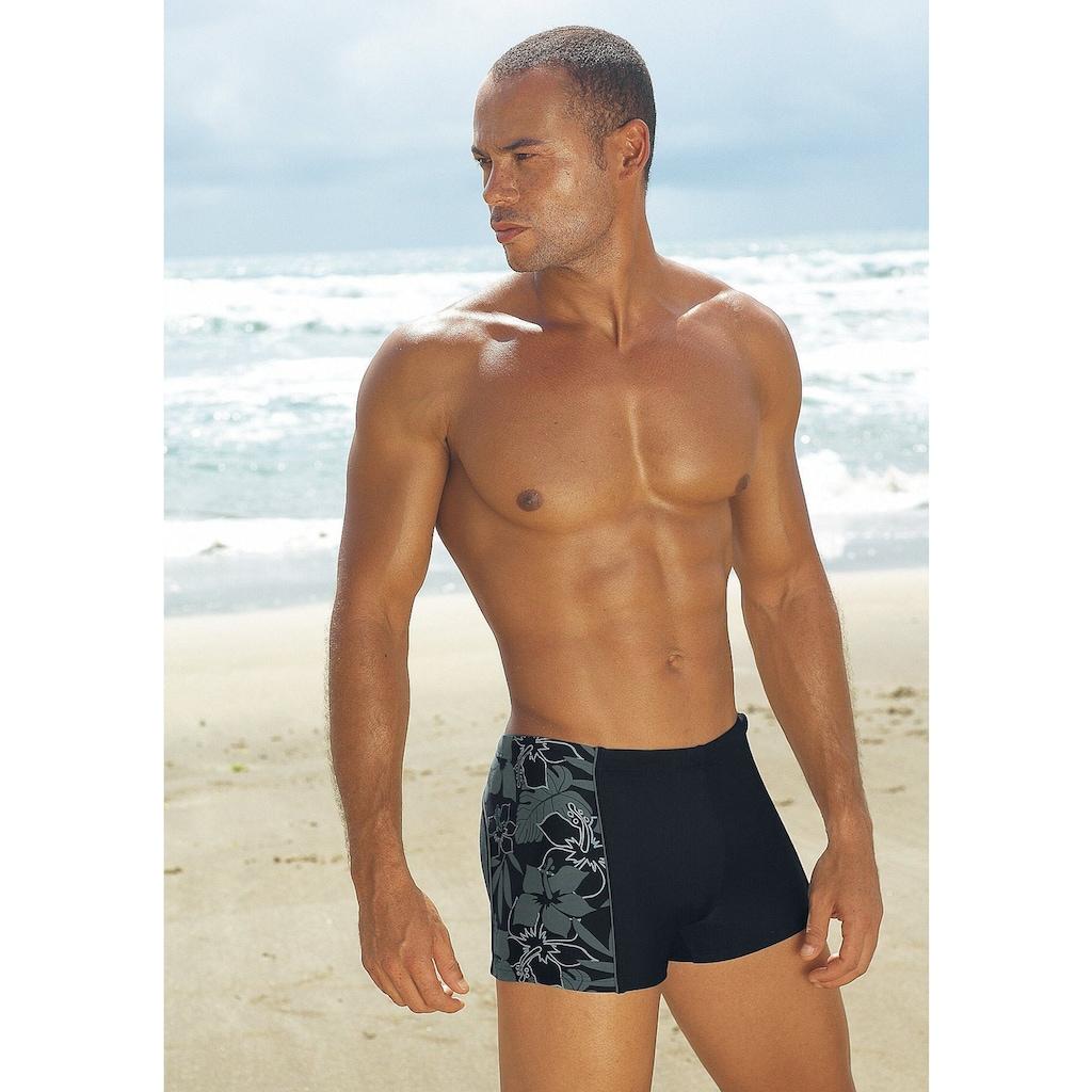 s.Oliver Boxer-Badehose, mit modischen Kontrasteinsätzen