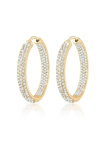 Elli Paar Creolen »Creolen Kristalle Funkelnd 925 Silber« kaufen