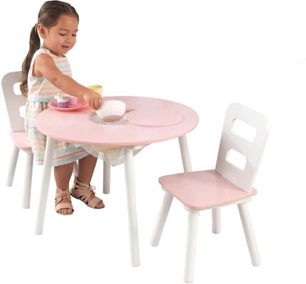 Kinderstuhl in Weiß Rosa