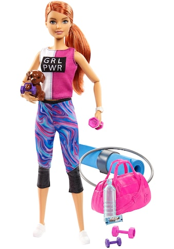 Barbie Anziehpuppe »Wellness Fitness«, mit Hündchen und 9 Zubehörteilen kaufen