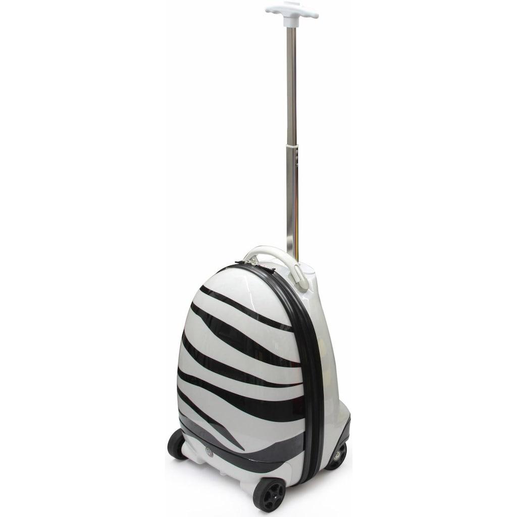 Jamara Kinderkoffer »Zebra«, 4 Rollen, mit 2,4 GHz Fernsteuerung