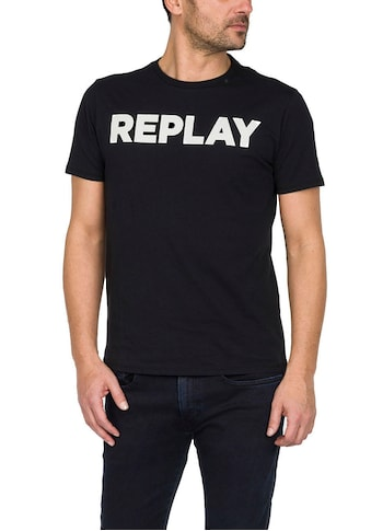Replay T-Shirt, Markenfrontprint kaufen